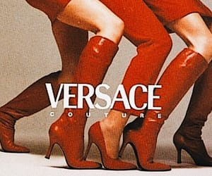 contrast, red, and Versace image