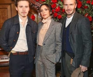 David Beckham, family, and red roses image
