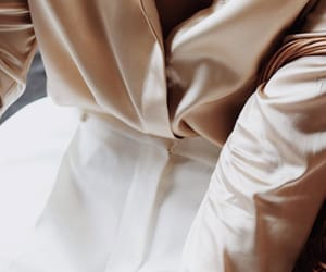 beige, outfit, and silk image