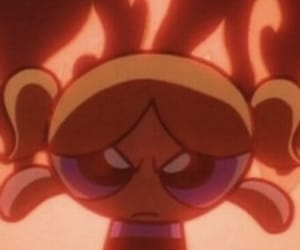 cartoon, angry, and fire image