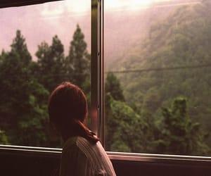 girl, window, and alone image