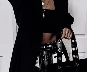 black, fashion, and jewelry image