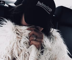 Balenciaga, fur, and hat image