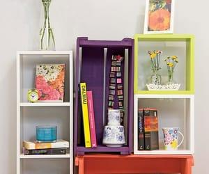 books, caixote, and decoration image