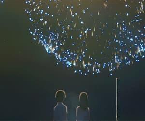 anime, anime girl, and fireworks image