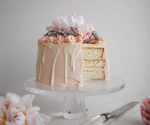 cake, champagne, and buttercream image