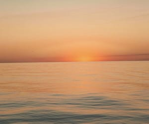 ocean, sunset, and view image
