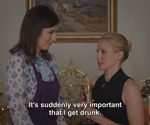 drunk, kristen bell, and quote image