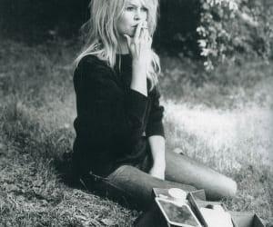 brigitte bardot, smoking, and blonde image