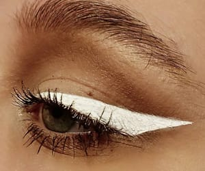 black, cat eye, and cosmetics image