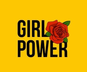 wallpaper, girl power, and yellow image