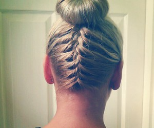braid, hair, and pretty image