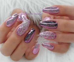 girly, glitter, and long image