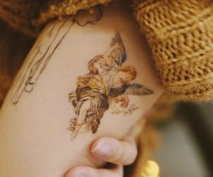 tattoo, angel, and girl image
