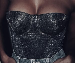 corset, denim, and fashion image