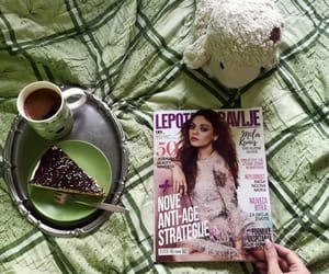 cake, coffee, and morning image