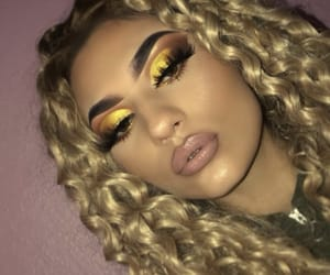 blonde, eyebrows, and lashes image