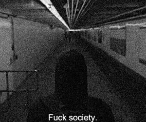 aesthetic, black and white, and fuck society image
