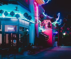 neon, aesthetic, and night image