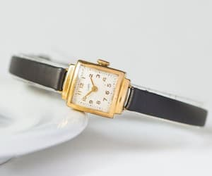 etsy, gold jewelry watch, and 50s woman watch image