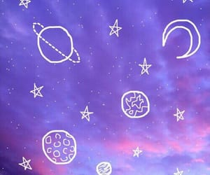 purple, aesthetic, and stars image