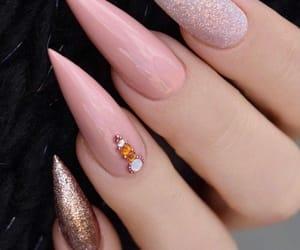 christmas, nails, and acrylic nails image