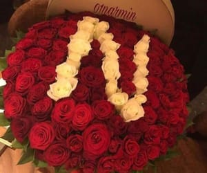 flowers, n, and red image