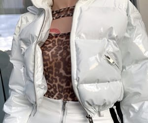bomber, jacket, and tube top image