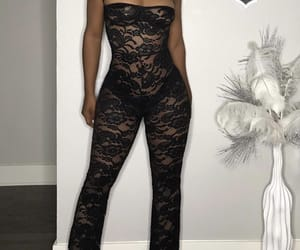 black, lace, and lace bodysuit image