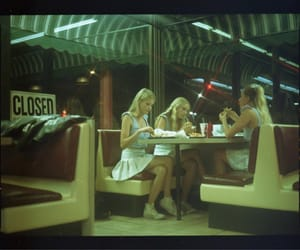 diner, vintage, and film image