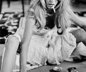 aesthetic, black and white, and brigitte bardot image