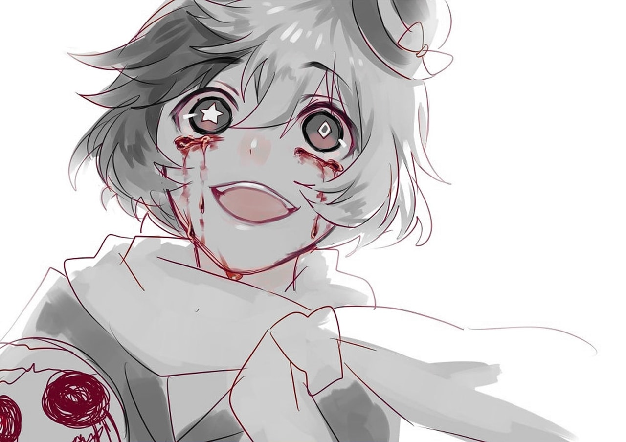 Cute And Crazy Anime Boy With Blood And Star Eye Color Splash By Me Find this pin and more on manga drawing by ma7moud_g0 t. cute and crazy anime boy with blood and