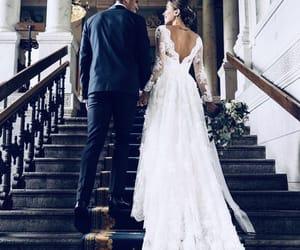 wedding, couple, and groom image
