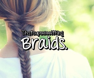 braids, cool, and hair image