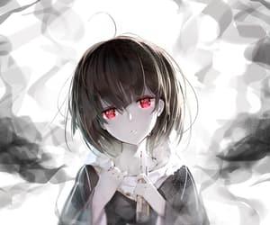 anime, anime girl, and color splash image
