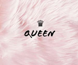 Queen, pink, and crown image