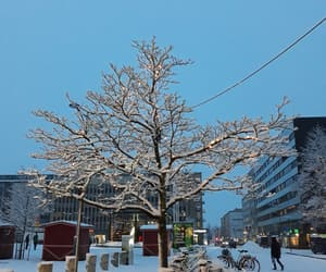 snow, suomi, and city image