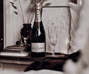 art, champagne, and room image