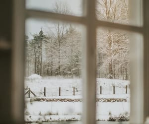 country living, farmhouse, and snow image