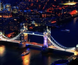 ligths, london, and Londres image