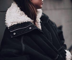 brunette, coat, and fashion image