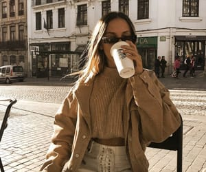 coffee, fashion, and beige image