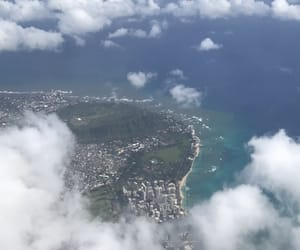 Aloha, clouds, and waikiki image