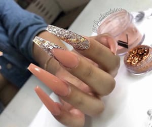 french, tips, and glitter image