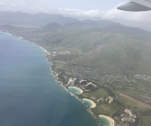 hawaii, ocean, and plane image