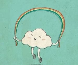 cloud, happy, and rainbow image