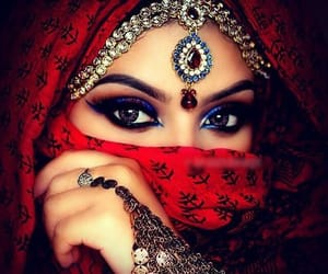 arabic, girl, and makeup image