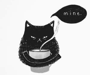 cat, coffee, and art image