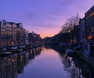 amsterdam, photography, and sunset image