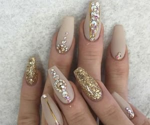 beauty, cream, and gold image